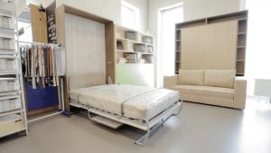 Шкаф-кровать со столом откидная от стены