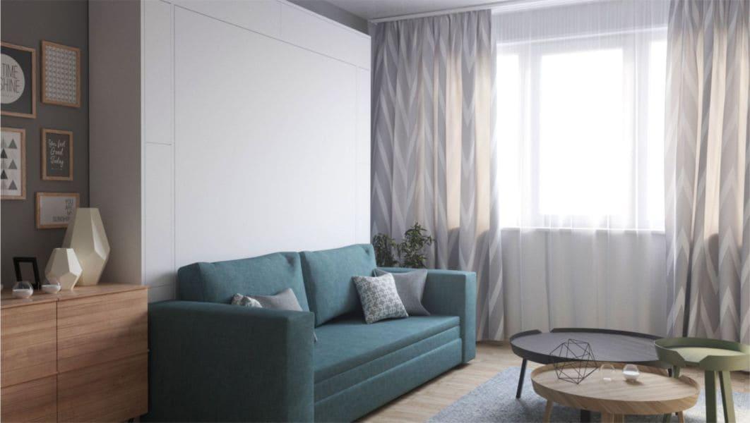 кровать встоенная в шкаф трансформер для маленькой квартиры