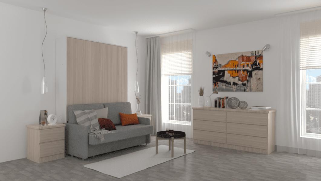 кровать встроенная с диваном трансформер спб фото
