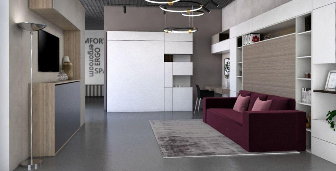 подъемная шкаф кровать с диваном трансформер спб фото