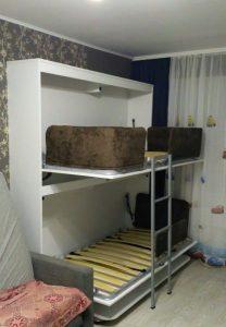 фото с монтажа стол-кровати у клиента