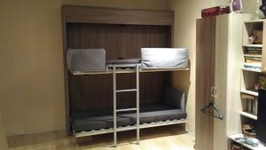 фото с доставки и установки шкаф-кровати у клиента
