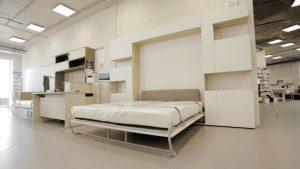 шкаф-кровать трансформер вертикальная с подьемным механизмом