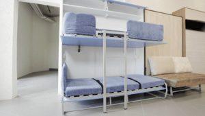 Шкаф-кровать двухъярусная детская откидная