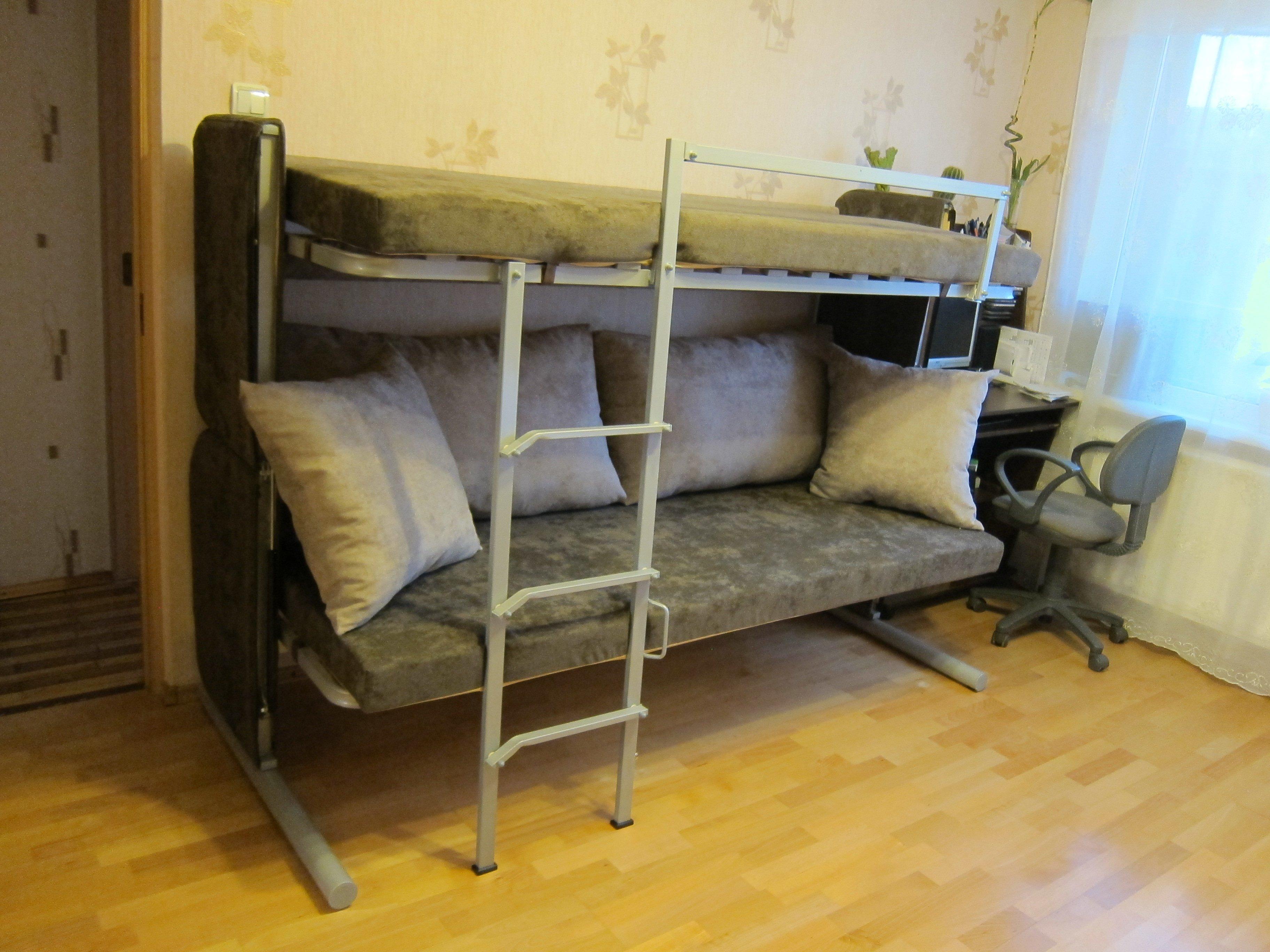 двухярусный диван трансформер купите у производителя в спб недорого