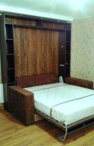 откидные встроенные кровати с диваном